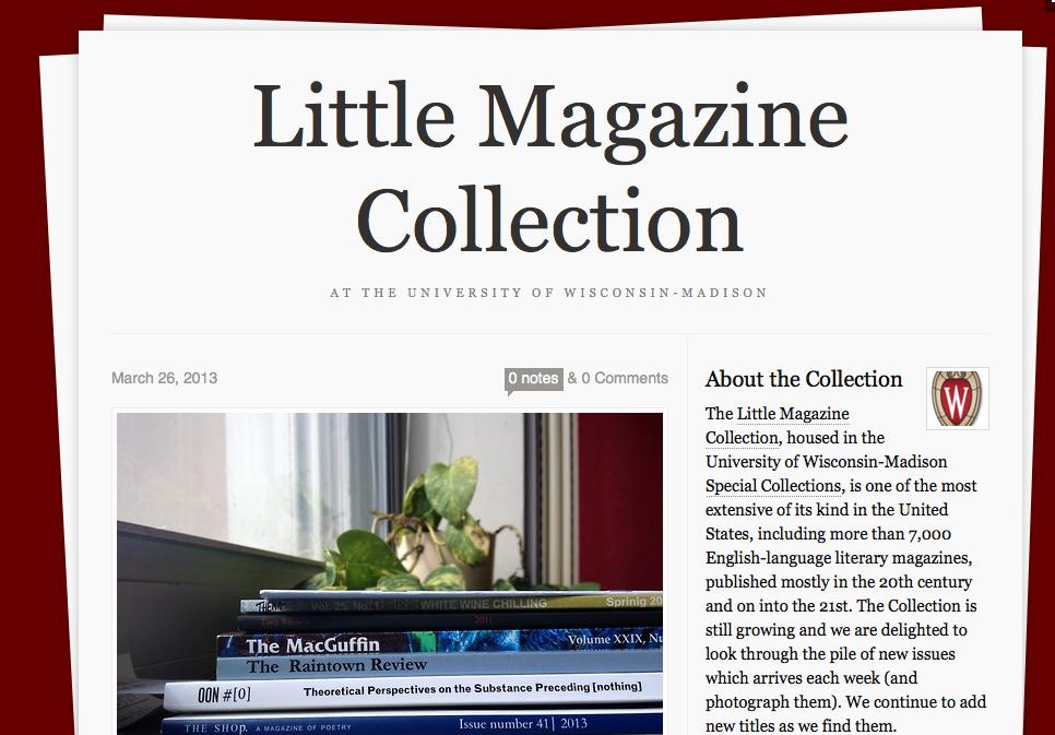 UW Little Magazines
