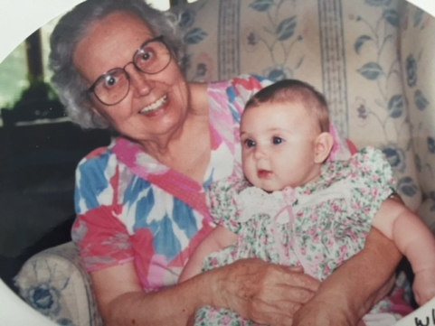 Marietta with baby Camryn.